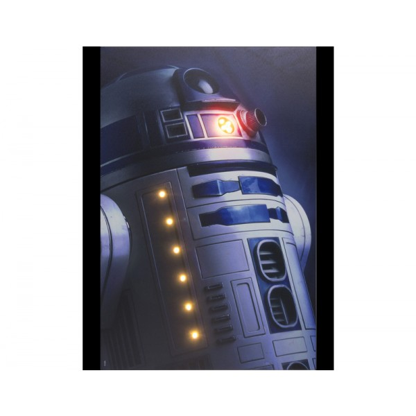 O R2D2 Πόλεμος των Άστρων Φωτισμένος Καμβάς με Led