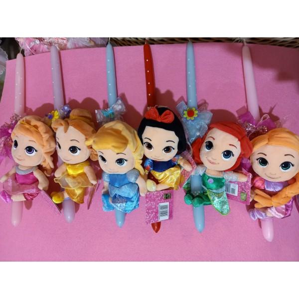 Λαμπάδα Πριγκίπισσες Disney Λούτρινο