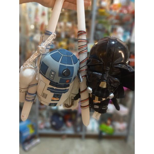 Λαμπάδα Star Wars R2D2, Chewbacca, Darth Vader με Αυθεντικές Φωνές