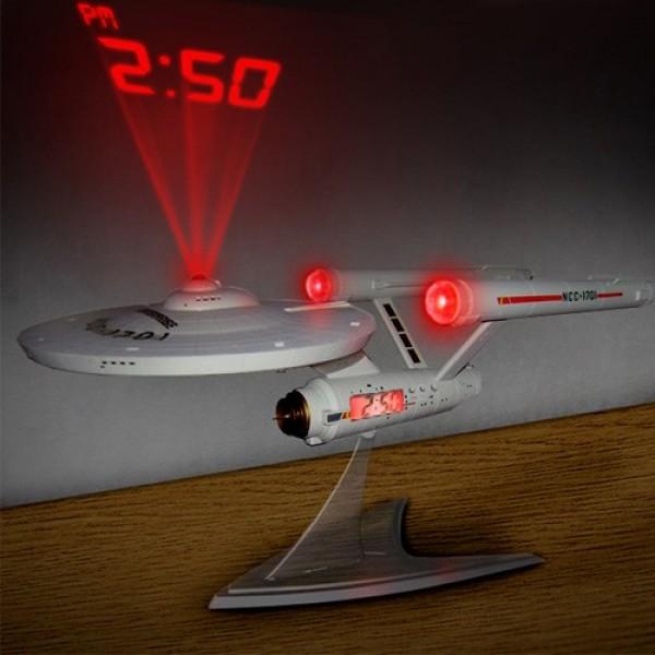 Ρολόι Star Trek  Που Προβάλει Την Ώρα Στον Τοίχο