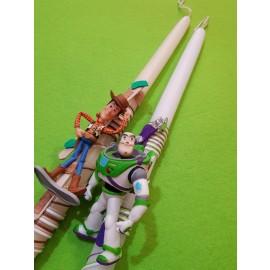 Λαμπάδα Toy Story Woody Buzz Μικρές Φιγούρες