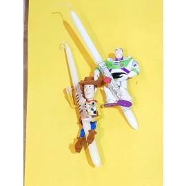 Λαμπάδα Woody- Buzz Toy Story με τις Αυθεντικές Φωνές