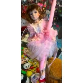 Λαμπάδα Πορσελάνινη Κούκλα Μπαλαρίνα