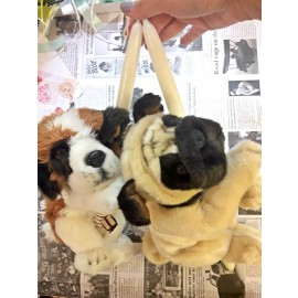 Λαμπάδα με Σκυλάκι Pug Λούτρινο