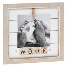 Κορνίζα Scrabble με την λέξη Woof ή Meow