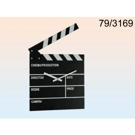 Ρολόι Τοίχου Ξύλινο Κλακέτα Σκηνοθέτη