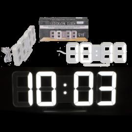 Ρολόι Ηλεκτρονικό Τοίχου ή Επιτραπέζιο με Ξυπνητήρι-Ημερολόγιο- Θερμοκρασία