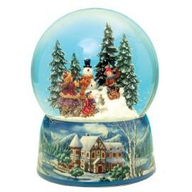 Χιονόμπαλα Με Χιονάνθρωπο Και Μουσική
