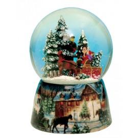 Χριστουγεννιάτικη Χιονόμπαλα Με  Άμαξα