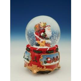 Χριστουγεννιάτικη Χιονόμπαλα Με Άγιο Βασίλη