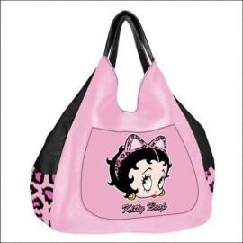 Betty Boop Τσάντα Υφασμάτινη Ροζ Leopard