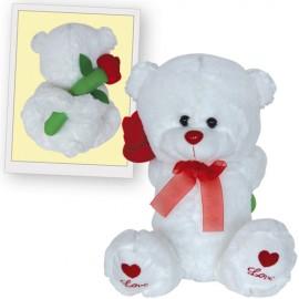 Λούτρινο Αρκουδάκι Με Λουλούδι Για Τους Ερωτευμένους