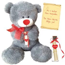 Λούτρινο Αρκουδάκι Με Μήνυμα Αγάπης σε Μπουκάλι