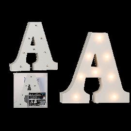 Φωτιζόμενα με led Ξύλινα Γράμματα