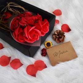 Κόκκινα Τριαντάφυλλα Σαπούνι σε Μαύρο Κουτί