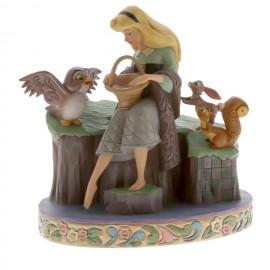 H Ωραία Κοιμωμένη με τα ζωάκια από το Jim Shore Αγαλματίδιο