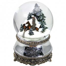 Χριστουγεννιάτικη Χιονόμπαλα Σπίτι μέσα στο Δάσος