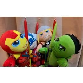Λαμπάδα Με Λούτρινα τους Avengers