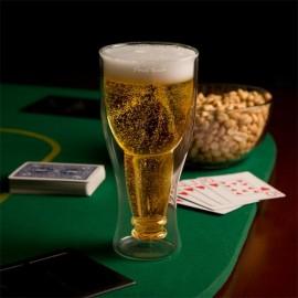 Ποτήρι Μπύρας Με Ανάποδο Σχήμα Και Διπλή Επένδυση Γυαλιού