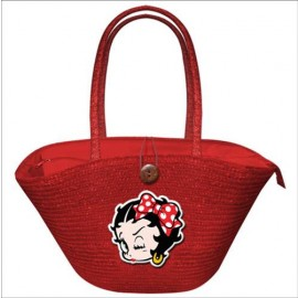 Betty Boop Ψάθινη Τσάντα Κόκκινη