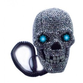 Τηλέφωνο Νεκροκεφαλή Με Στρας
