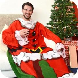 Χριστουγεννιάτικη Κουβέρτα Άγιος Βασίλης