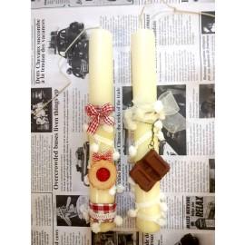 Λαμπάδα με Κολιέ Σοκολάτα- Μπισκότο