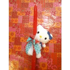 Λαμπάδα Hello Kitty Μωρό Λούτρινο