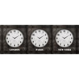 Ρολόι Παγκόσμιος Ωρα 3 Ρολόγια