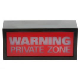 Φωτεινή Επιγραφή ''Warning Private Zone''