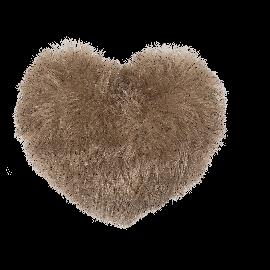 Μαξιλάρι Γούνινο σε Σχήμα Καρδιάς