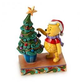 Jim Shore Disney- Αγαλματίδιο Γουίνι Χριστουγεννιάτικο