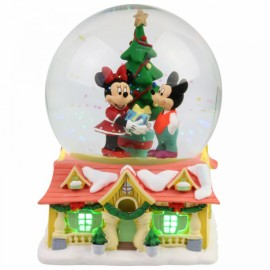Χριστουγεννιάτικη Χιονόμπαλα Μίκυ και Μίνι του Department 56